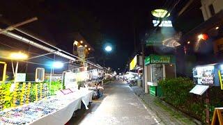 Virtual walking tour - Koh Samui Walking street Night time | Streets of Thailand 2020