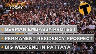 Thailand News Today   German Embassy rally, permanent residency prospect, crowds in Pattaya   Oct 26