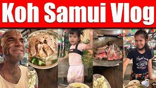 Video #4210 - Amazing Dinner In Koh Samui For USD $10, Eating Cheap In Thailand - Vlog