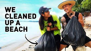 We CLEANED UP a Beach in Koh Samui (EN/TH Sub) | Thailand Island Living - Vlog#13