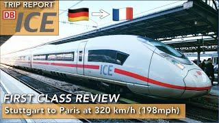 First class on the ICE 3 Velaro D between Germany and France at 320km/h