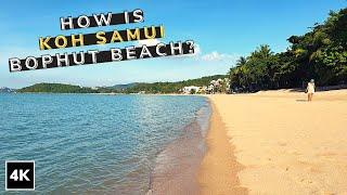 How is Koh Samui Today ? How is Samui Bophut Beach 2020 ? Thailand 4K Walking on a Tropical Island