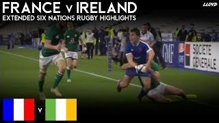 France v Ireland (Six Nations Rugby Extended Highlights) 31 10 20