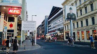 [4K] Walking in Berlin Germany Summer Evening 2020 - Checkpoint Charlie Walk Tour