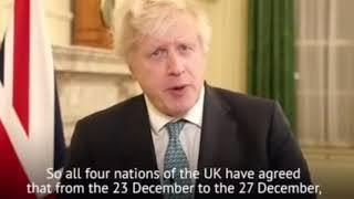 Новости Великобритании. All four nations of the UK agreed that from 23 December to the 27 December