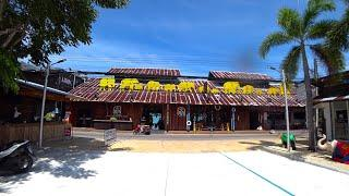 Virtual walking tour - Koh Samui Walking Street Fisherman Village | Streets of Thailand 2020