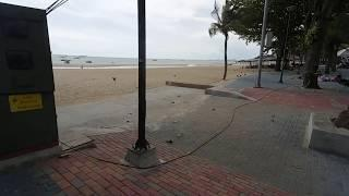 Pattaya Beachroad Walk, This Ghost Town Need now  Tourists (Filmed by BC)
